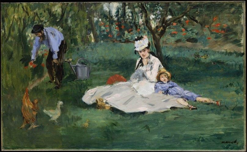 La-famille-Monet-dans-leur-jardin-à-Argenteuil-1874