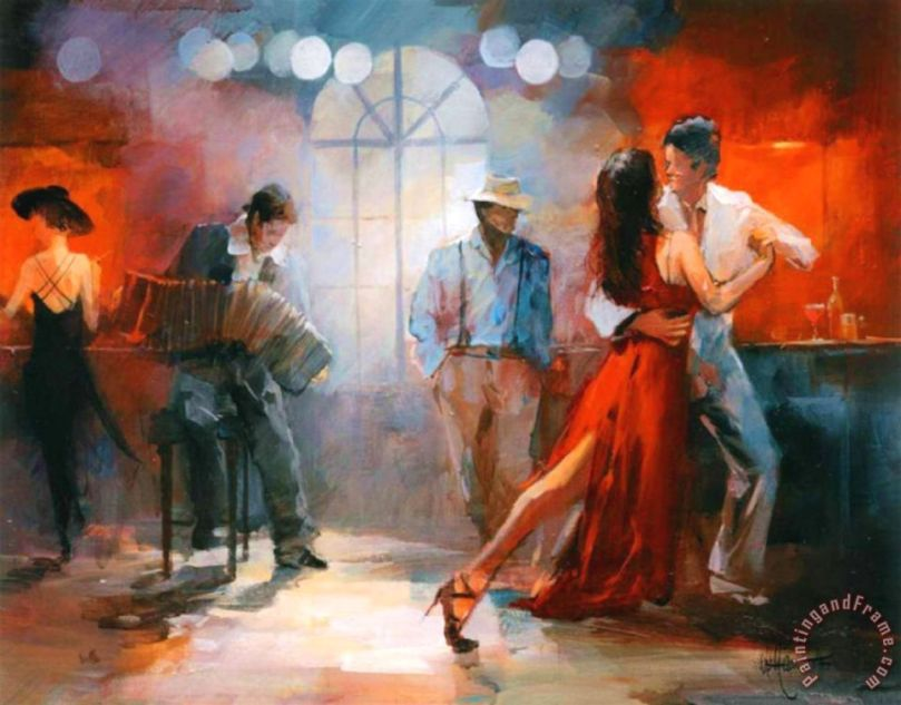 Tango Painting by willem haenraets; Tango Art Print for sale
